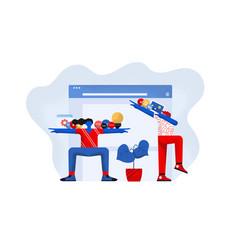 flat modern design creative design vector image