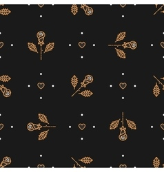 Floral pattern seamless minimal background vector image