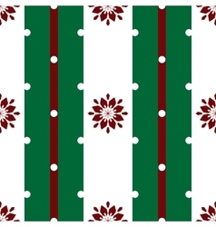 Floral snowflakes on the white stripes Christmas vector image