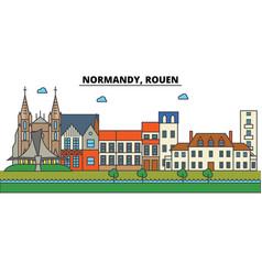 France rouen normandy city skyline architecture vector