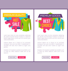 Hot sale on products of premium quality web poster vector