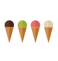 ice cream flat icons vector image vector image