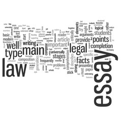 Indispensable elements a powerful law essay vector
