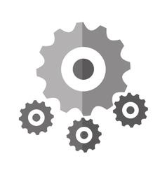 Isolated gear object design vector