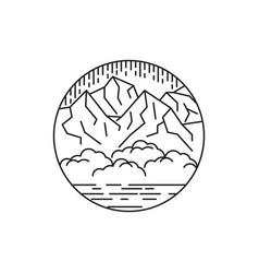 line art outdoor vector image