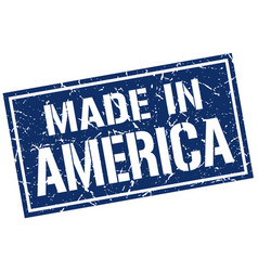 made in america stamp vector image
