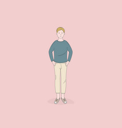 man standing poses isolated vector image