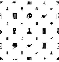 Mark icons pattern seamless white background vector