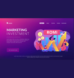 marketing investment concept landing page vector image