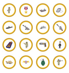 Military and war cartoon icon circle vector