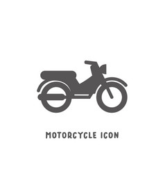 motorcycle icon simple flat style vector image