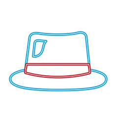 Neon hat accessory costume party vector