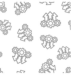 Operation project icon seamless pattern vector
