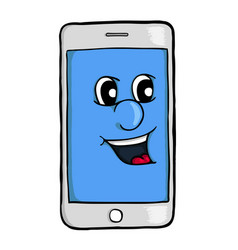 Phone with smile vector