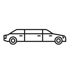 President limousine icon outline style vector