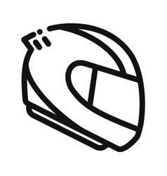 racing helmet icon vector image