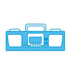 radio stereo vintage vector image