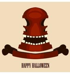 Red skull halloween vector