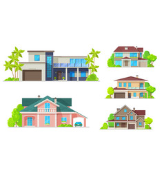 residential architecture mansion houses villas vector image