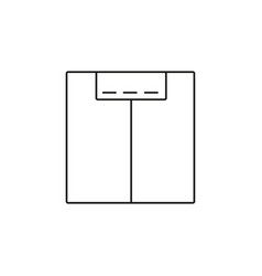 scale icon vector image