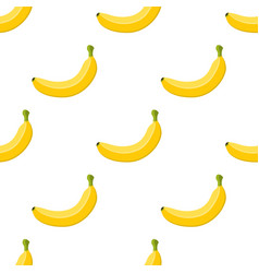 seamless pattern banana cartoon flat style vector image