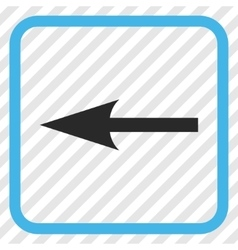 Sharp arrow left icon in a frame vector