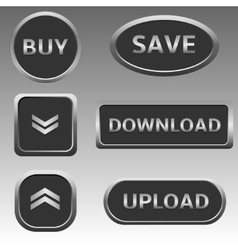 Silver web buttons vector
