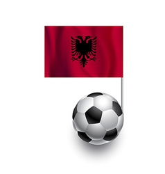 Soccer balls or footballs with flag of albania vector