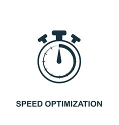 speed optimization icon symbol creative sign from vector image