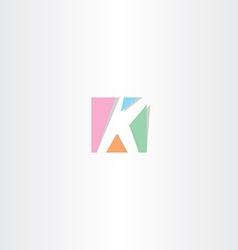 Square letter k logo k icon design vector