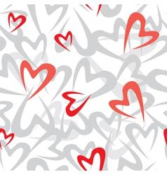stilized heart pattern vector image