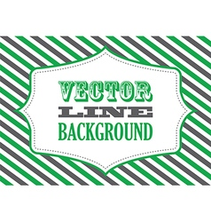 Striped background green vector