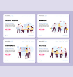 successful business landing pages templates vector image