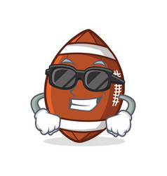 Super cool american football character cartoon vector
