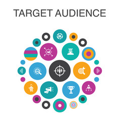 target audience infographic circle concept smart vector image