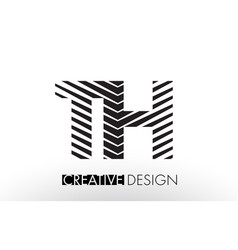 Th t h lines letter design with creative elegant vector
