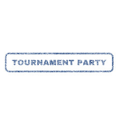 tournament party textile stamp vector image