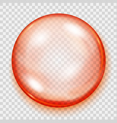 Transparent orange sphere with shadow vector