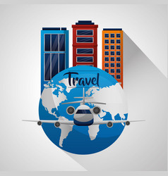 travel around the word vector image