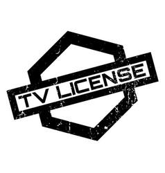 tv license rubber stamp vector image