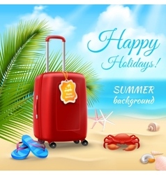 Vacation Background Realistic vector