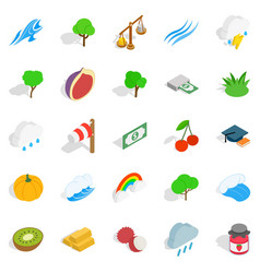 Vital icons set isometric style vector