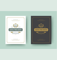 wedding invitations save date cards design vector image
