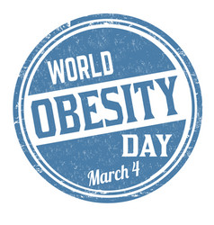 World obesity day grunge rubber stamp vector
