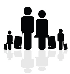 family travel icon vector image