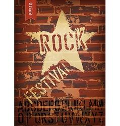 rock festival template vector image vector image