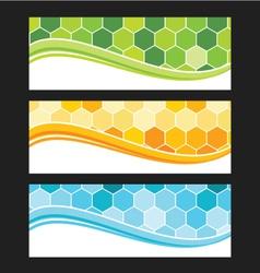 Set of wave background banner or header vector image vector image