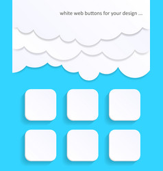 white blank web buttons vector image