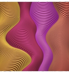Yellow red and pink colors wavy stripes abstract vector image