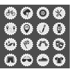 bicycle icon set vector image